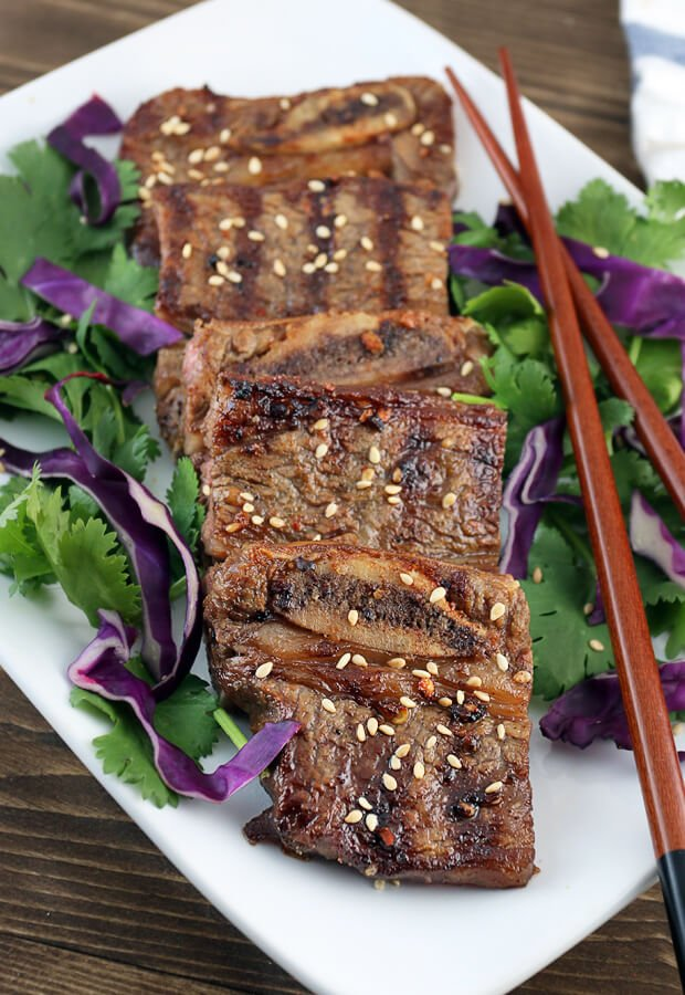 An awesome #keto grilled Asian Short Ribs. Plus enter to win a free subscription for #keto delivered. Shared via www.ruled.me/