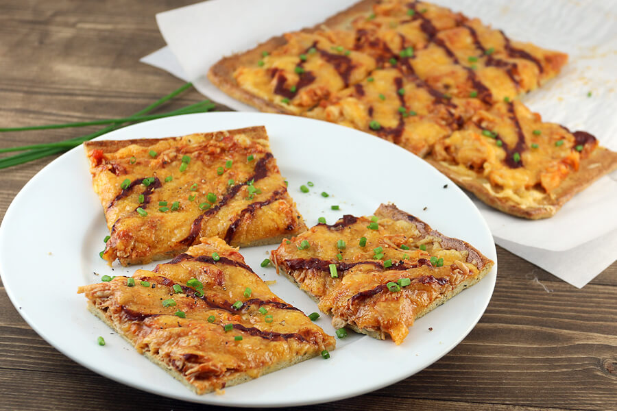 Keto BBQ Chicken Pizza