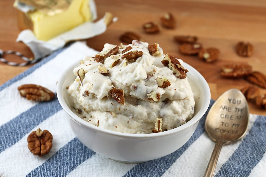 Brown Butter Pecan Keto Ice Cream | Ruled Me