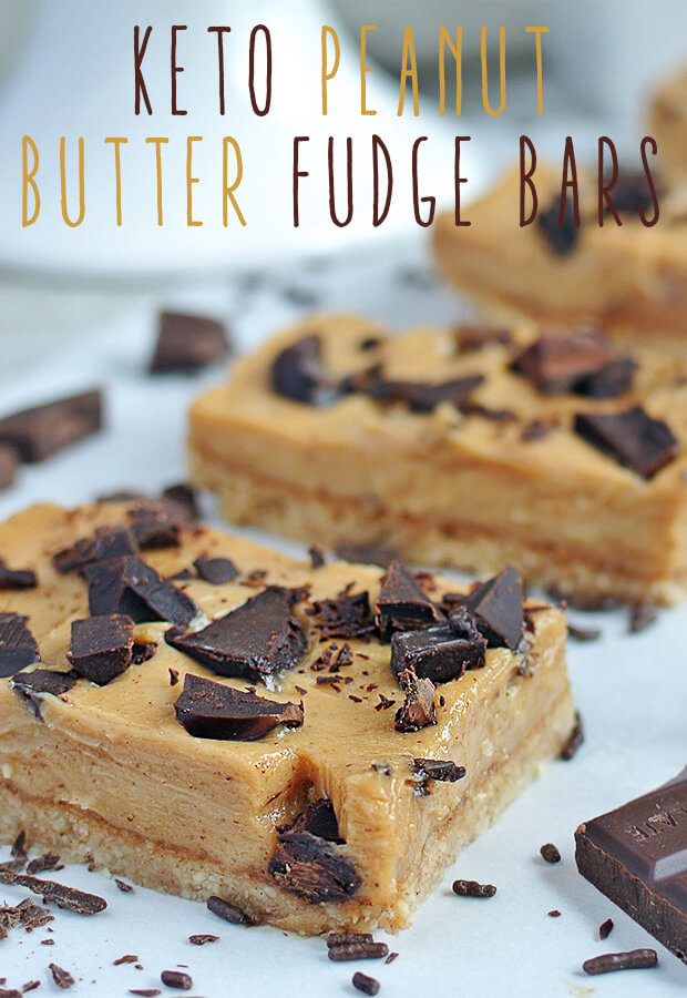 Pack these super tasty #keto Peanut Butter Fudge Bars in lunchboxes to take to work or school! Shared via //www.ruled.me/