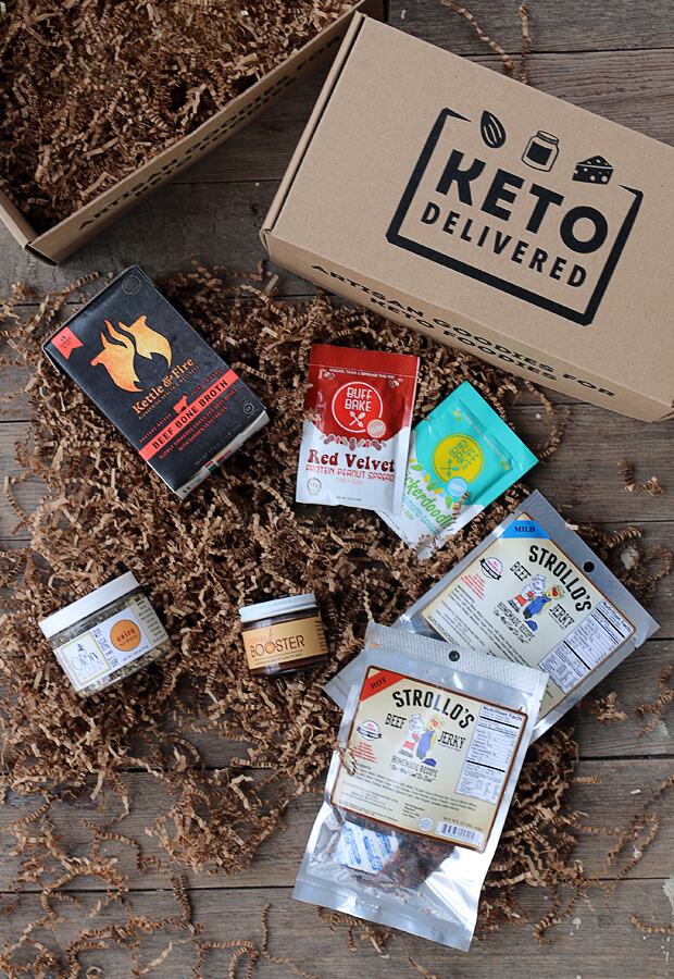 Meet the Keto Delivered March Box. Stocked full of delicious Keto foods that will make your diet/lifestyle fun and easy! See more at www.ketodelivered.com