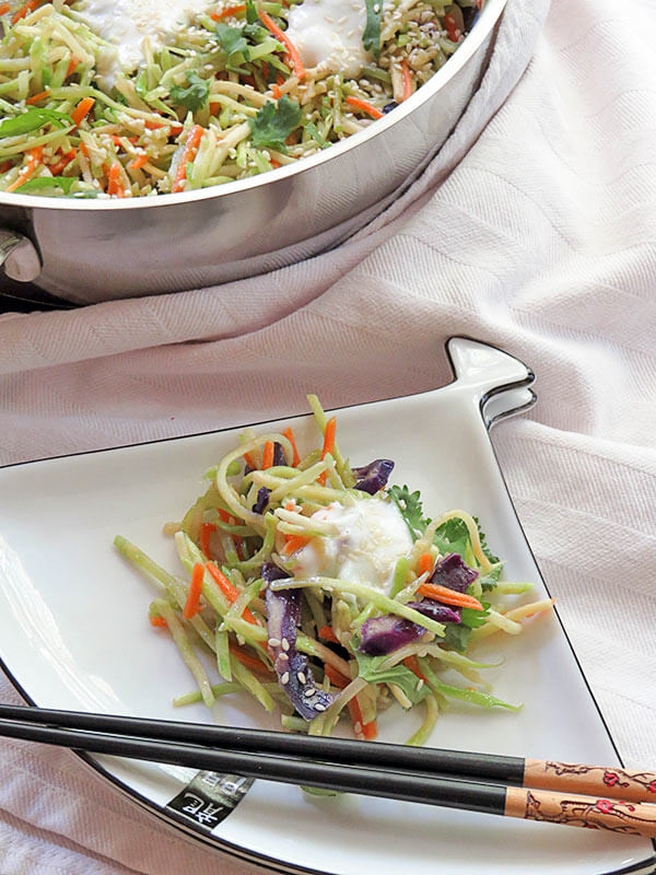 Warm Asian Broccoli Salad