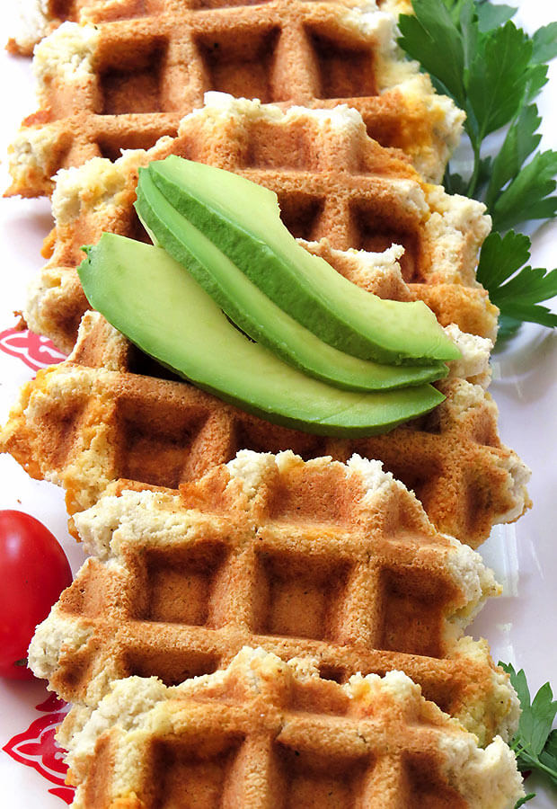 Savory Sage and Cheddar Waffles