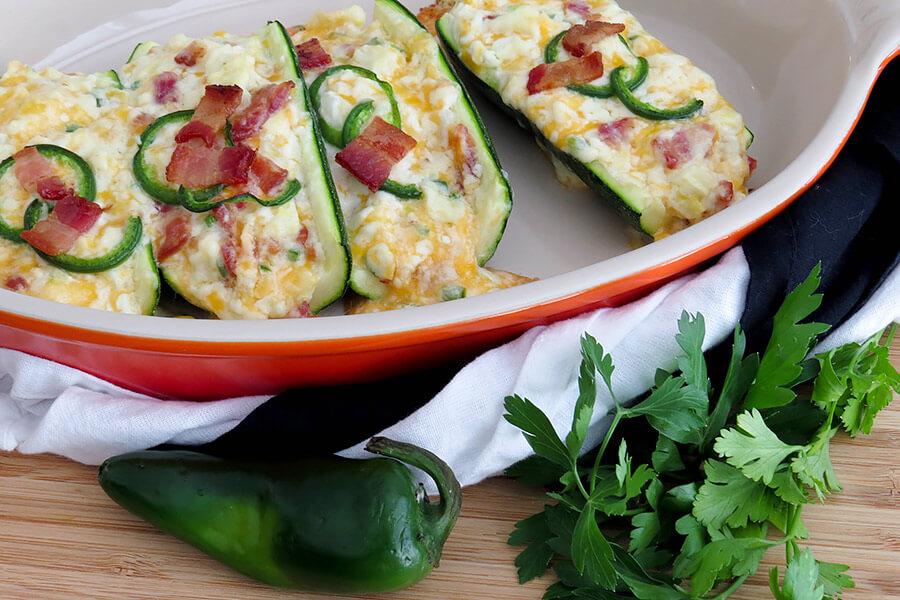 Twice Baked Potato Style Zucchini