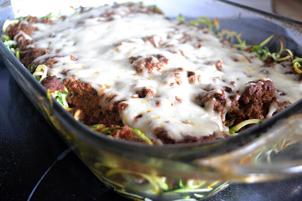 Bolognese Zoodle Bake