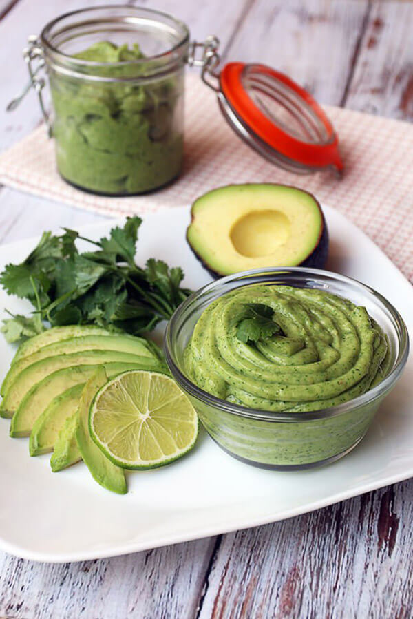 Cilantro Infused Avocado Lime Sorbet