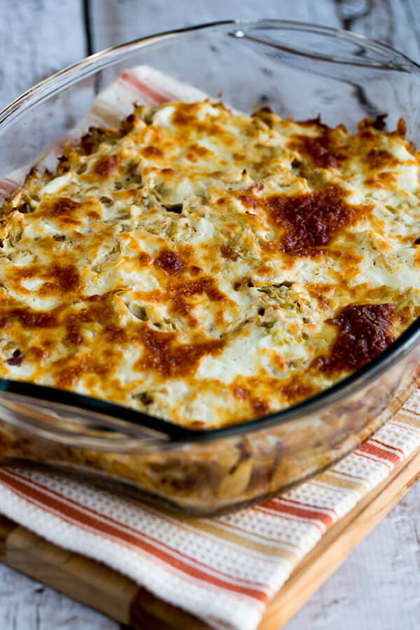 Low-Carb Twice-Cooked Cabbage with Sour Cream and Bacon