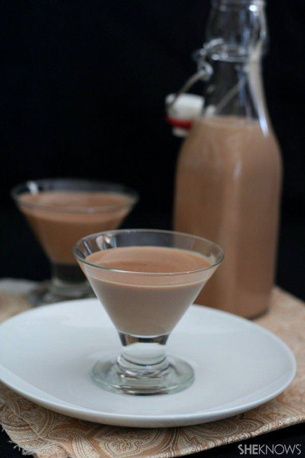 Homemade sugar-free Irish cream liqueur
