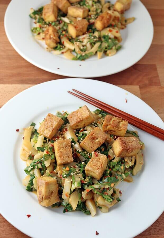 Crispy Tofu and Bok Choy Salad