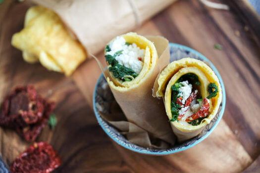 Spinach, Herb & Feta Wrap