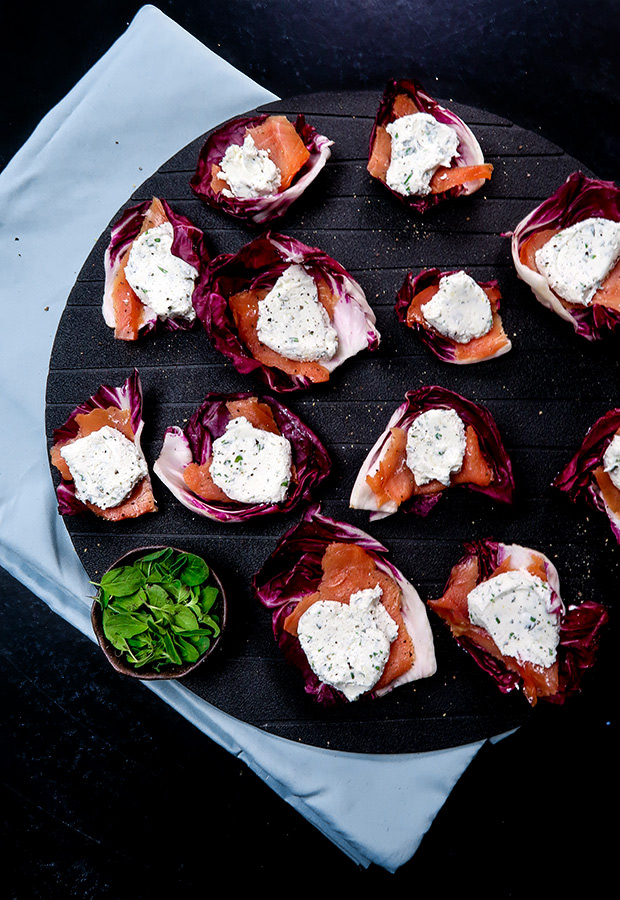 Smoked Salmon and Goat Cheese Bites