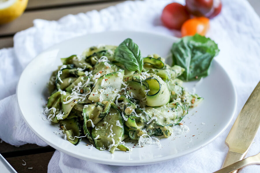 Zucchini ribbon noodles recipe