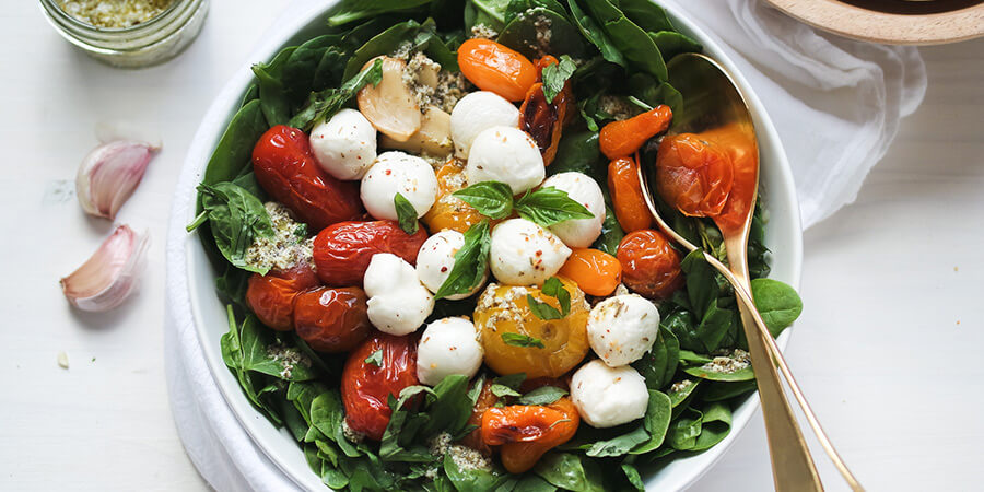 Oven Roasted Caprese Salad