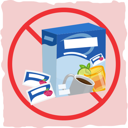 Skip aspartame where possible