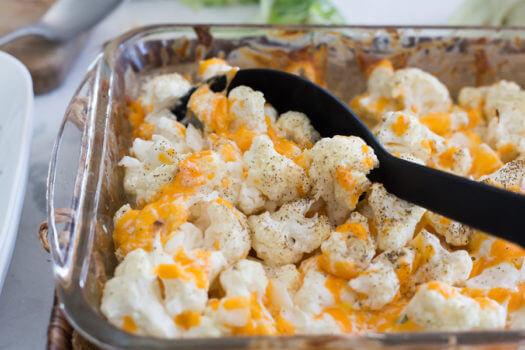 Caçarola de couve-flor com queijo