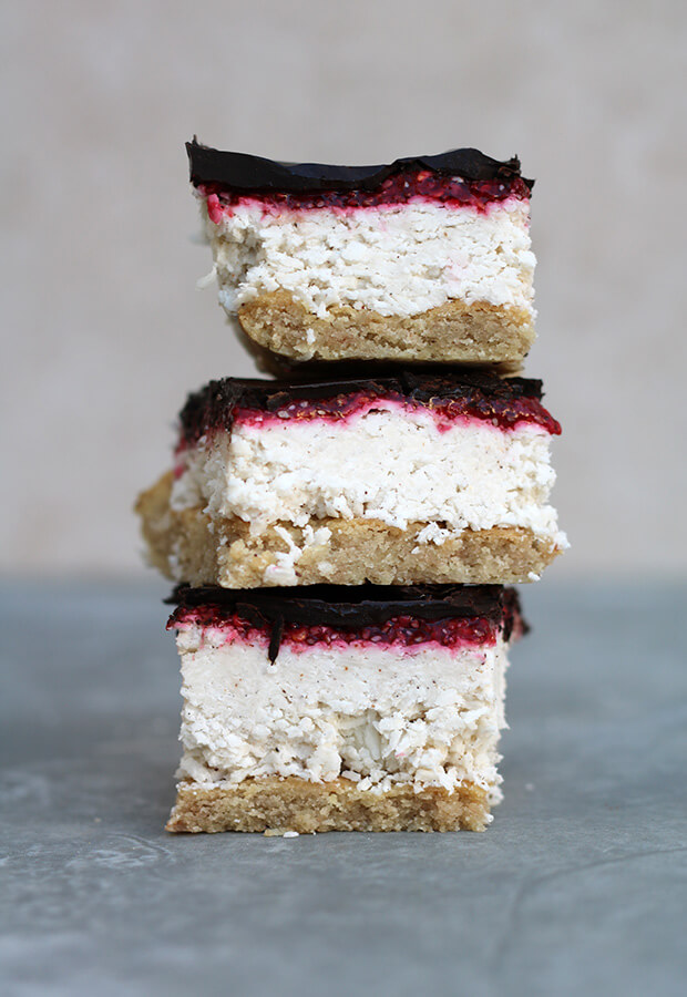 Coconut Raspberry Slice