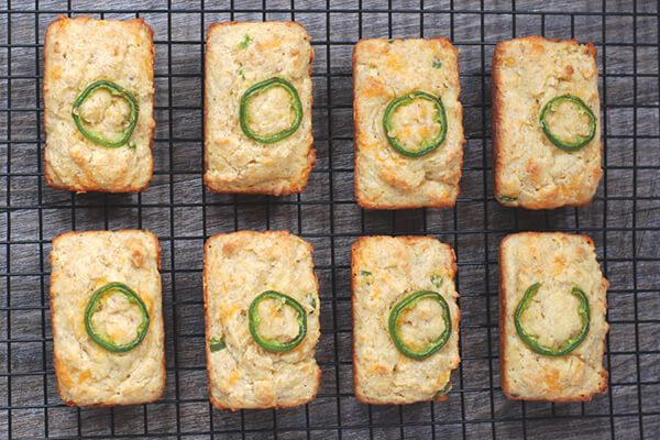Jalapeno Cornbread Mini Loaves