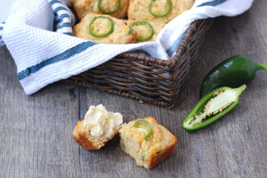 Click to see how to make the jalapeno cornbread mini loaves