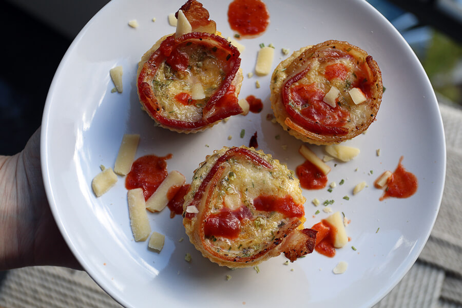 Bacon Crusted Frittata Muffins