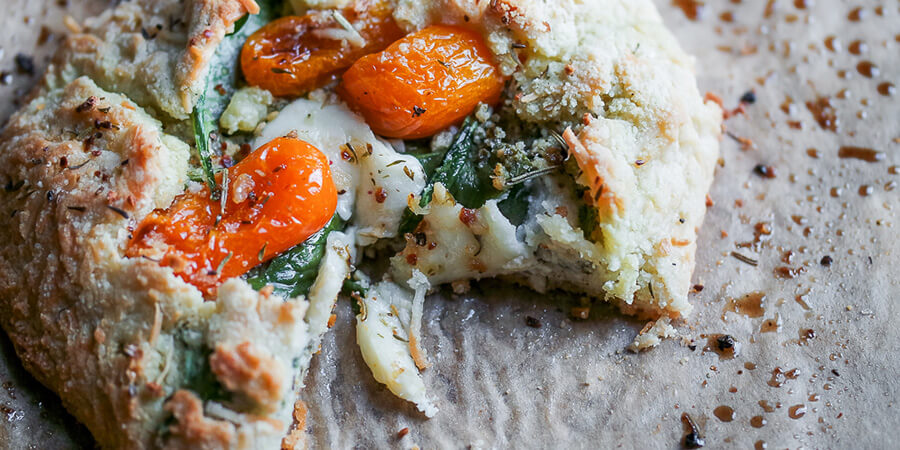 Tomato Basil and Mozzarella Galette