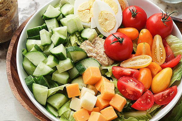 Vegetarian Keto Cobb Salad