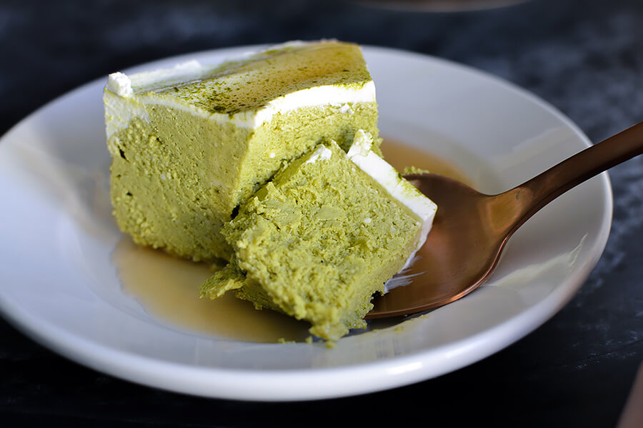 Instant Pot Matcha Cheesecake | Ruled Me