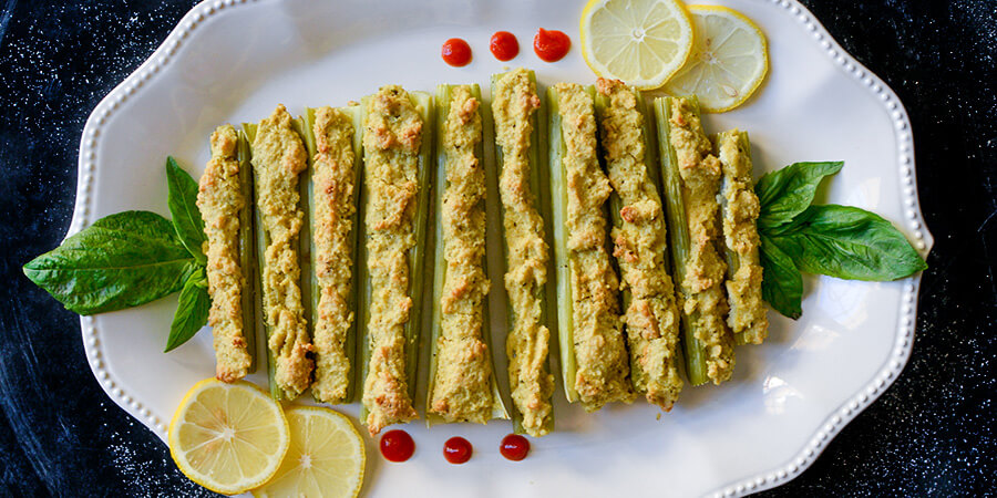 Roasted Celery and Macadamia Cheese