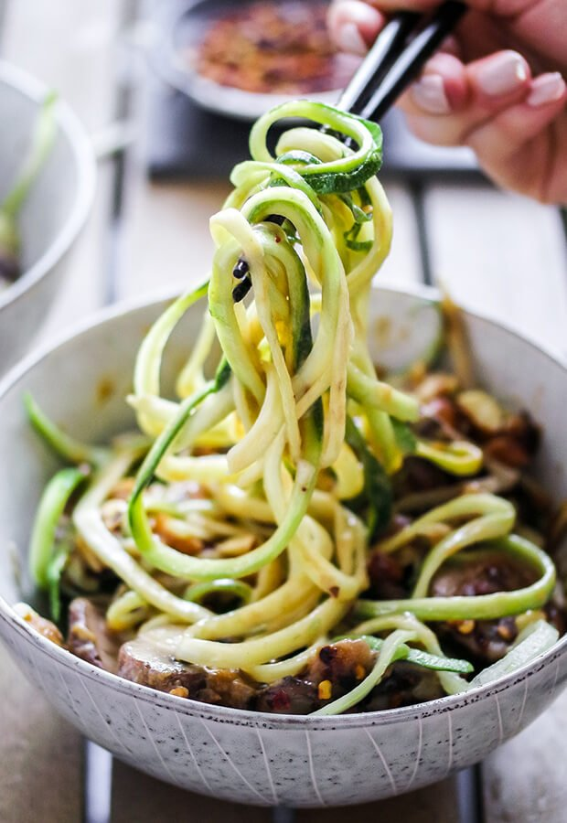Sesame Almond Zoodle Bowl