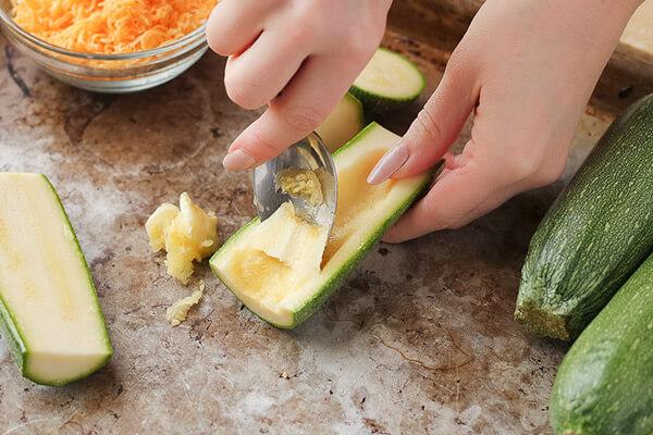 Vegetarian Loaded Zucchini Skins