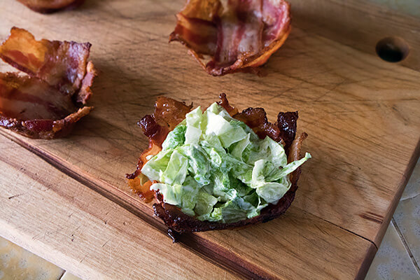 Caesar Salad Bacon Baskets