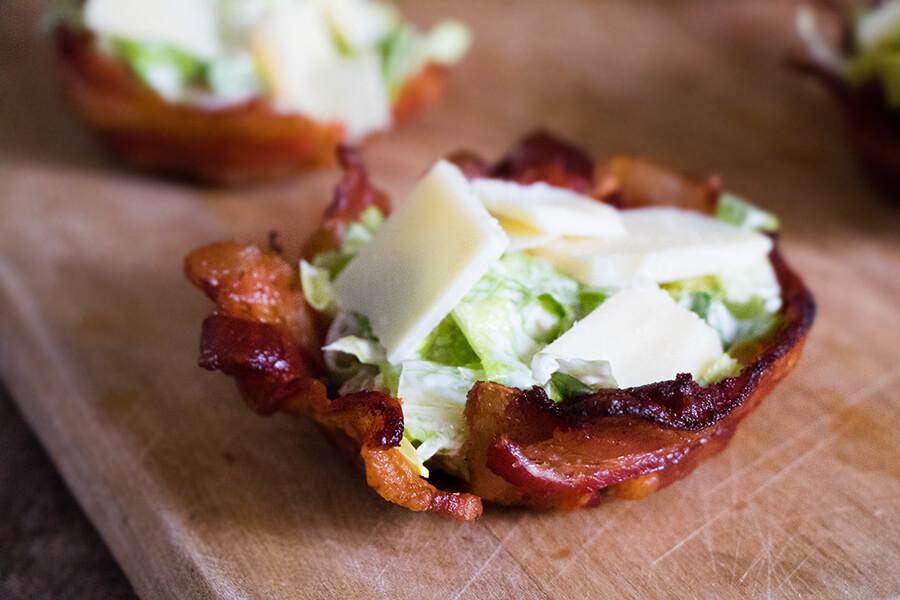 Caesar Salad Bacon Baskets