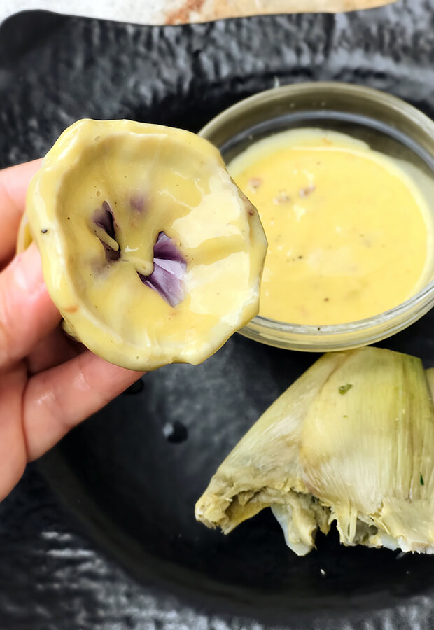 Artichokes with Anchovy Mayonnaise