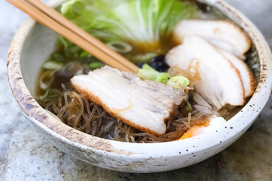 Braised Pork Belly Noodles