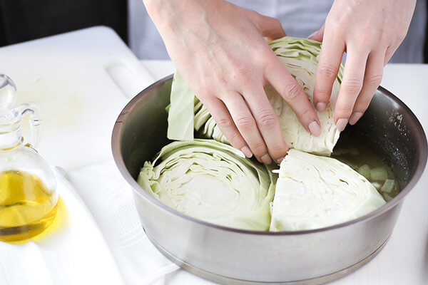 Garlic Butter Braised Cabbage