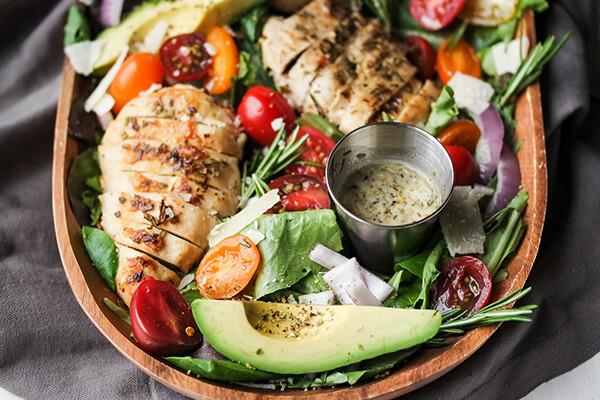 Rosemary Chicken Salad with Herb Balsamic Vinaigrette