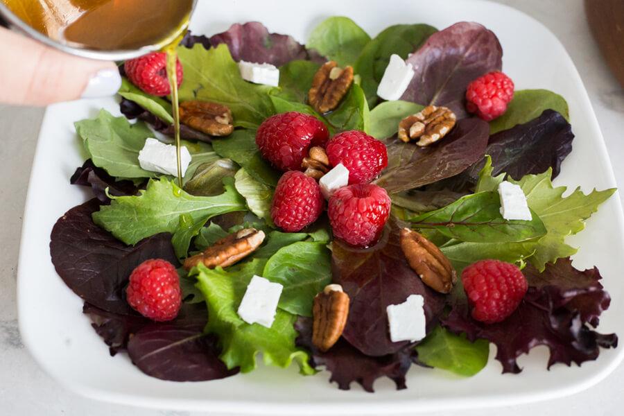 Raspberry Pecan Salad