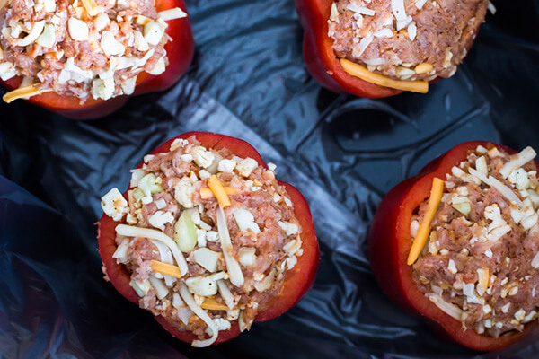 Slow-Cooker Stuffed Taco Peppers