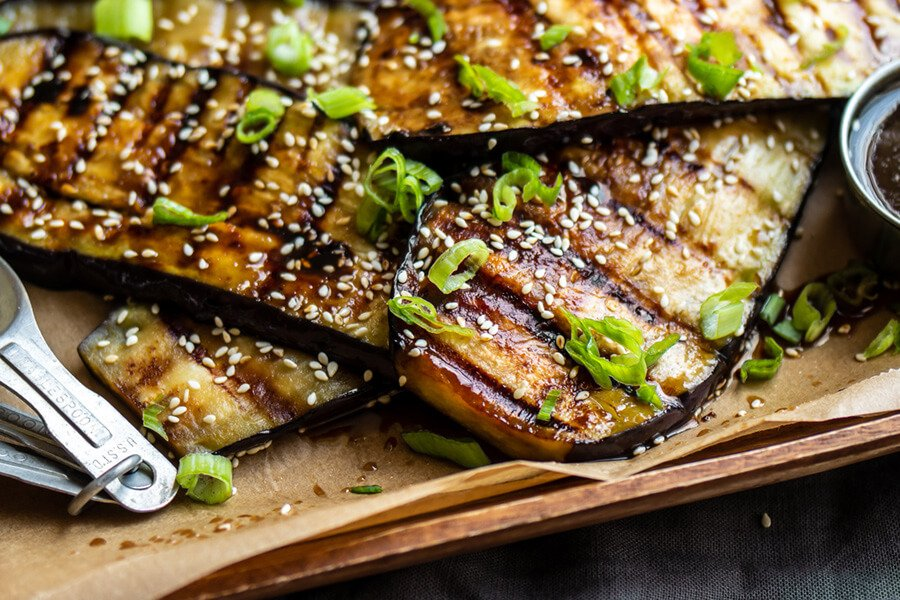 Vegan Teriyaki Grilled Eggplant