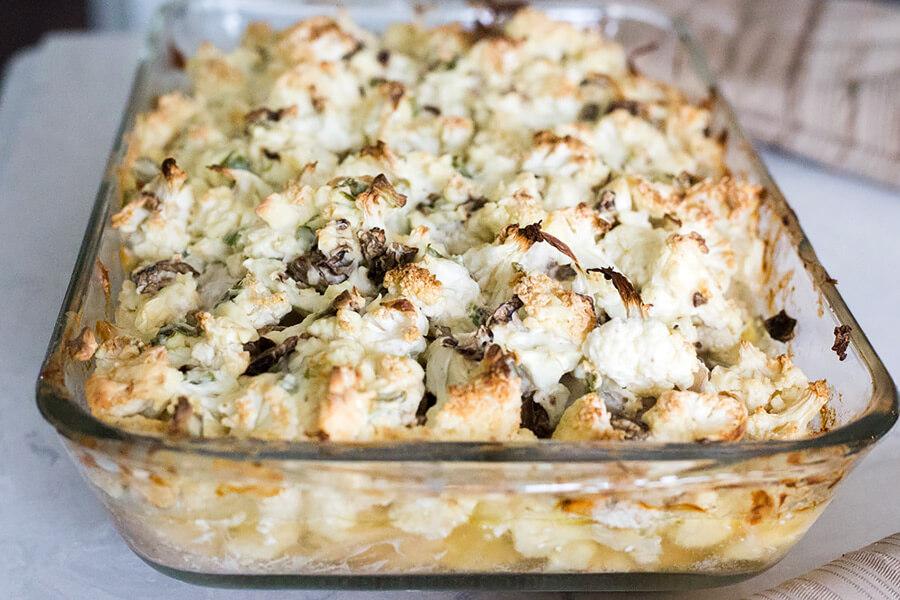 Creamy Mushroom Keto Casserole