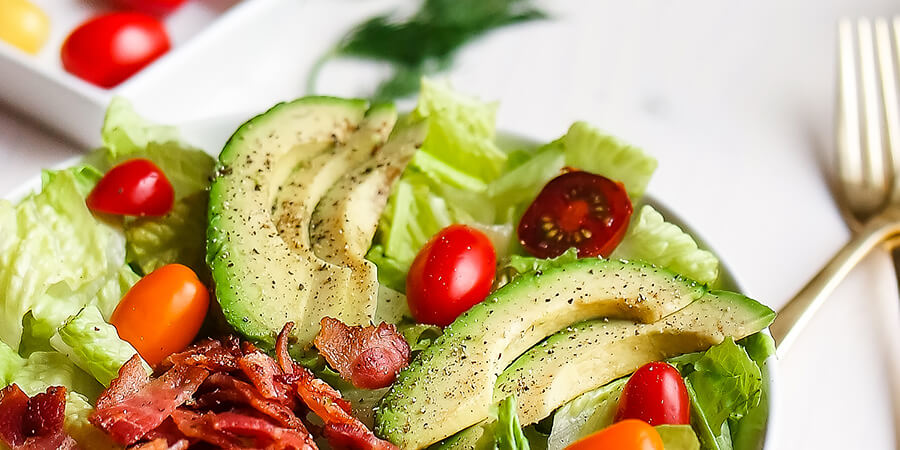 Avocado BLT Salad with Sweet Onion Bacon Ranch Dressing