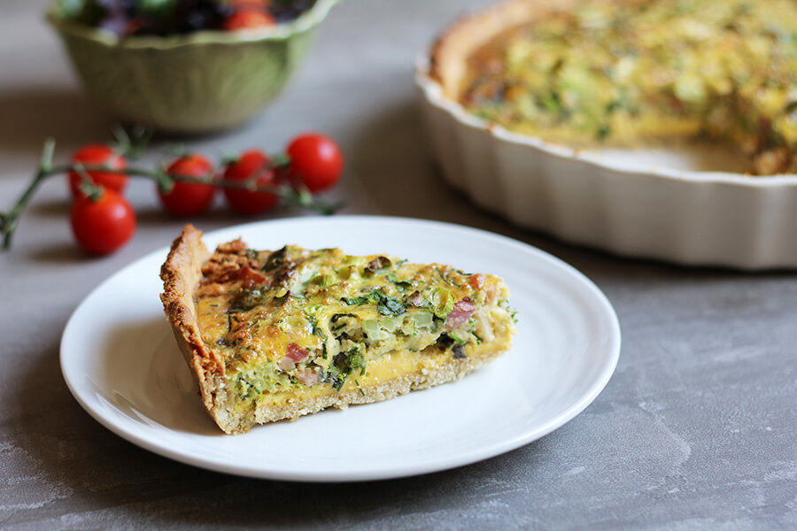 Keto Bacon and Broccoli Tart