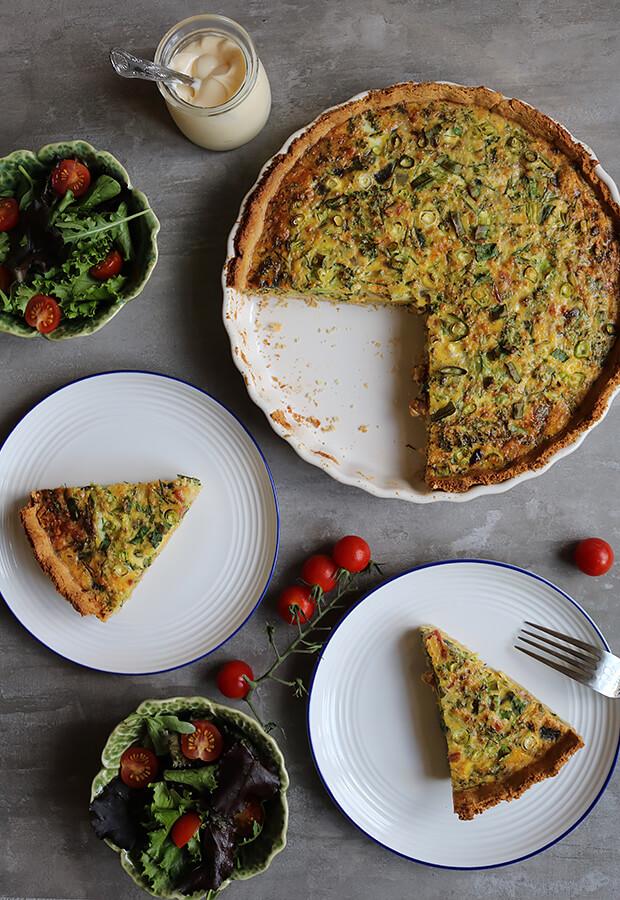 Keto Bacon and Broccoli Tart