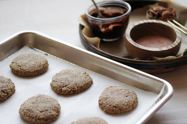 Pecan Softies with Sea Salt and Dark Chocolate