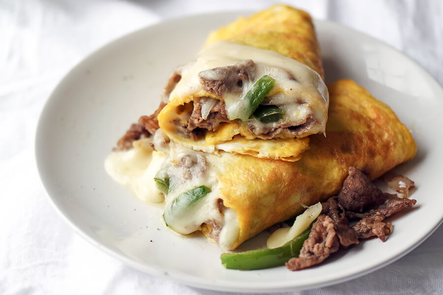 Keto Philly Cheesesteak Omelet