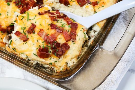 Loaded Cauliflower and Meatloaf Casserole