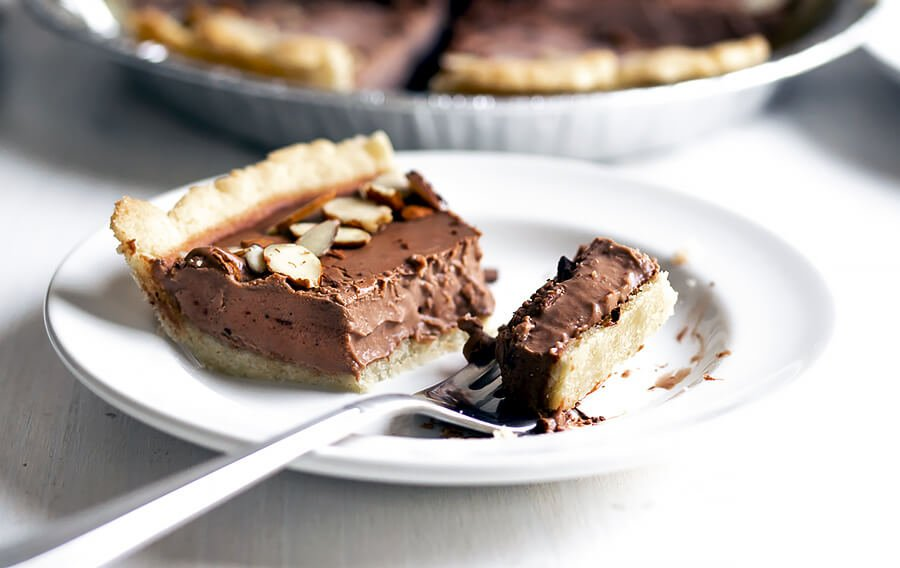 Dairy Free Keto Chocolate Silk Pie