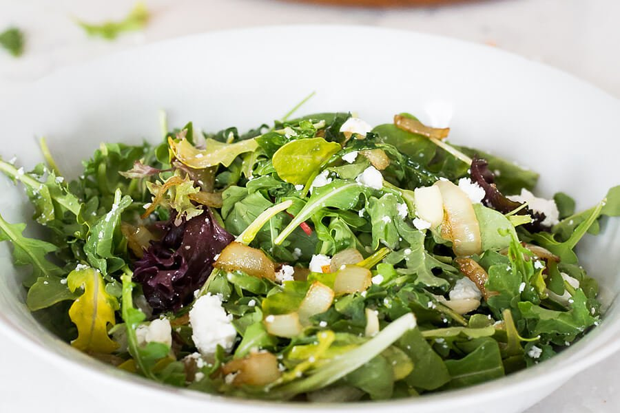 Arugula & Caramelized Onion Salad
