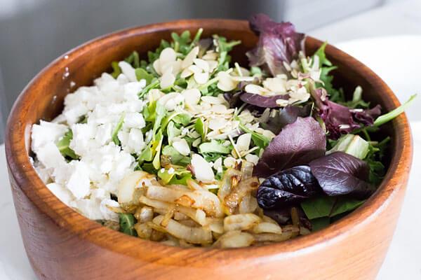 Arugula & Caramelized Onion Salad