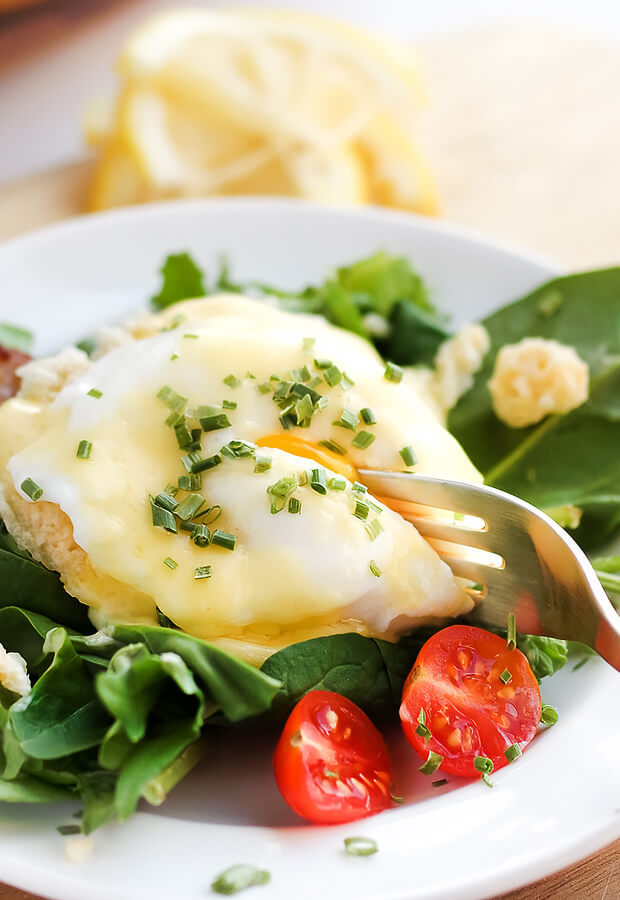 Bacon and Eggs Benedict Salad