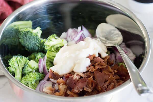 Simple Keto Bacon and Broccoli Salad